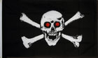 2ft by 3ft Skull Red Eyes Pirate Flag