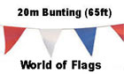 Red White Blue Pennant Bunting 20m