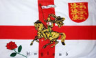 2ft by 3ft England Rose Lion Flag