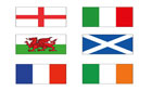 Six Nations Rugby Flags 2ft by 3ft Special Offer