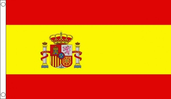 2ft by 3ft Spain Flag With Crest