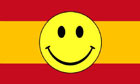 Spain Smiley Face Flag Only a Few Left