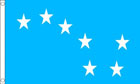 2ft by 3ft Blue Starry Plough Flag