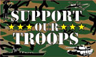 Support Our Troops Flag - Camouflage Flag Only A Few Left