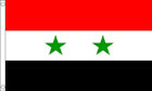 2ft by 3ft Syria Flag 2 Star Syrian Flag