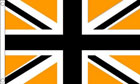 Black and Gold Union Jack Flag