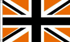 Black and Orange Union Jack Flag