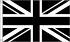 2ft by 3ft Black and White Union Jack Flag