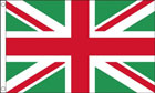 Red and Green Union Jack Flag