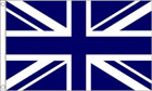 Navy Blue and White Union Jack Flag