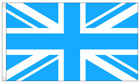 Sky Blue and White Union Jack Flag - NHS Colours