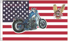 USA Motorcycle Flag with Harley Davidson Crest LAST ONE