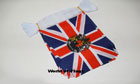 Union Jack with Queens Royal Crest Bunting 9m