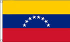 2ft by 3ft Venezuela Flag 8 Stars NO Crest
