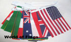 World Bunting 15m with 50 Flags